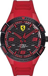 Ferrari Men's APEX Quartz Watch with Silicone Strap, Red, 20.5 (Model: 0830664)