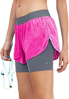 Champion Women's Double Dry 6.2 2 in 1 Run Short