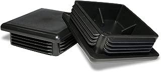 Prescott Plastics 4 inch Square Plastic Plug, Heavy Duty Tubing Post End Cap 4-9 ga (2)