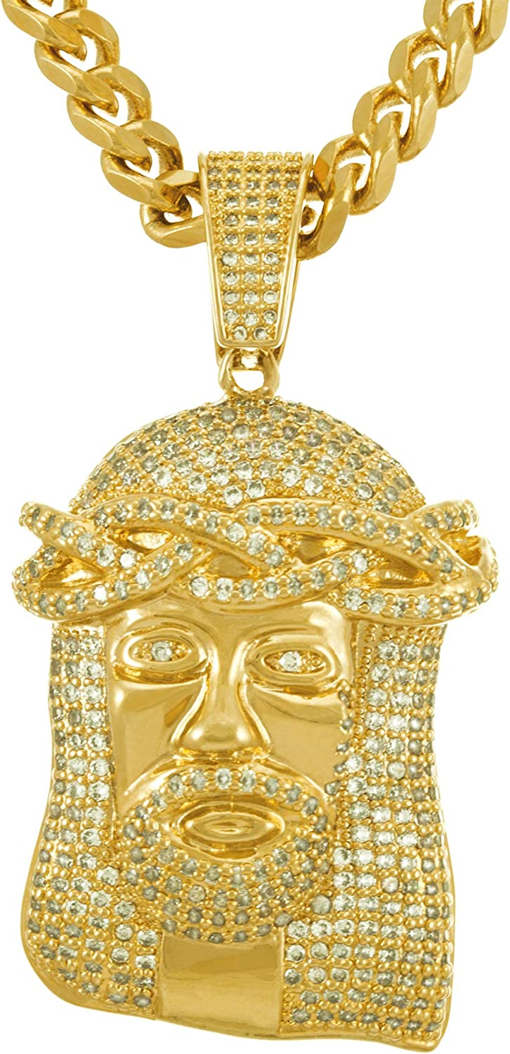 Lifetime Max 77% OFF OFFicial site Jewelry Face of Christ Men Women Pendant for Necklace