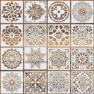 PATPAT® 16 Pcs Stencil Border , Reusable Painting Template for Home Decor, Crafting, DIY Albums and Printing,Art Scrapboo...
