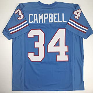 Unsigned Earl Campbell Houston Blue Custom Stitched Football Jersey Size Men's XL New No Brands/Logos