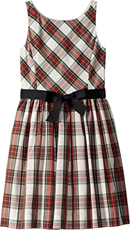 Belted Pleated Georgette Dress (Big Kids)