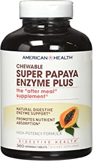 American Health Enzymes Chewable Super Papaya Enzyme Plus 360 tablets