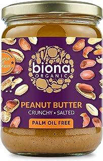 Biona Organic Peanut Butter Crunchy with Sea Salt, 500 g