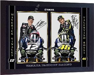S&E DESING New Valentino Rossi Maverick Vinales Signed Autographed Print Photo Framed