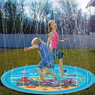 Cozyswan ウオータスプレー インフレータブル プレーマット 水遊び 膨張式 子供おもちゃ ビーチおもちゃ スイミング ビーチ プール 直径170cm