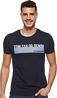 TOM TAILOR DENIM Herren Logo-print T-Shirt