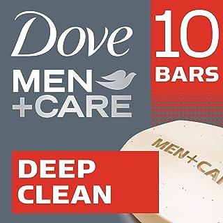 Dove Men+Care  Deep Clean Body and Face Bar 4 oz, 10 Bar