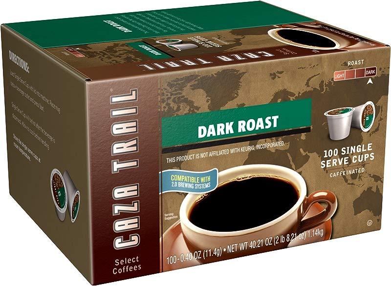 Caza Trail Coffee Dark Roast 100 Single Serve Cups