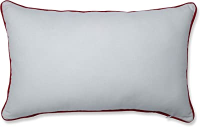 "Pillow Perfect Christmas Truck Decorative Lumbar Pillow, 12"" x 18"", Red/Green/Off White"