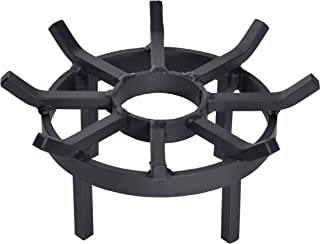 SteelFreak Wagon Wheel Firewood Grate for Fire Pit, Chiminea - Made in The USA (12 Inch)