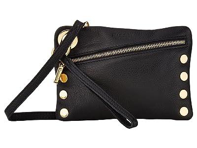 Hammitt Nash Small (Black Leather/Gold Hardware) Handbags