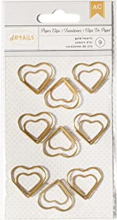 American Crafts 9 Piece Designer Desktop Heart Paper Clips