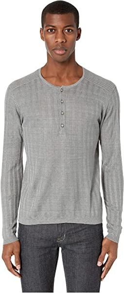 Long Sleeve Ribbed Henley Y2380V1