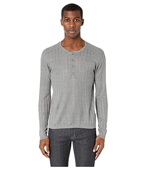 John Varvatos Collection Long Sleeve Ribbed Henley Y2380V1