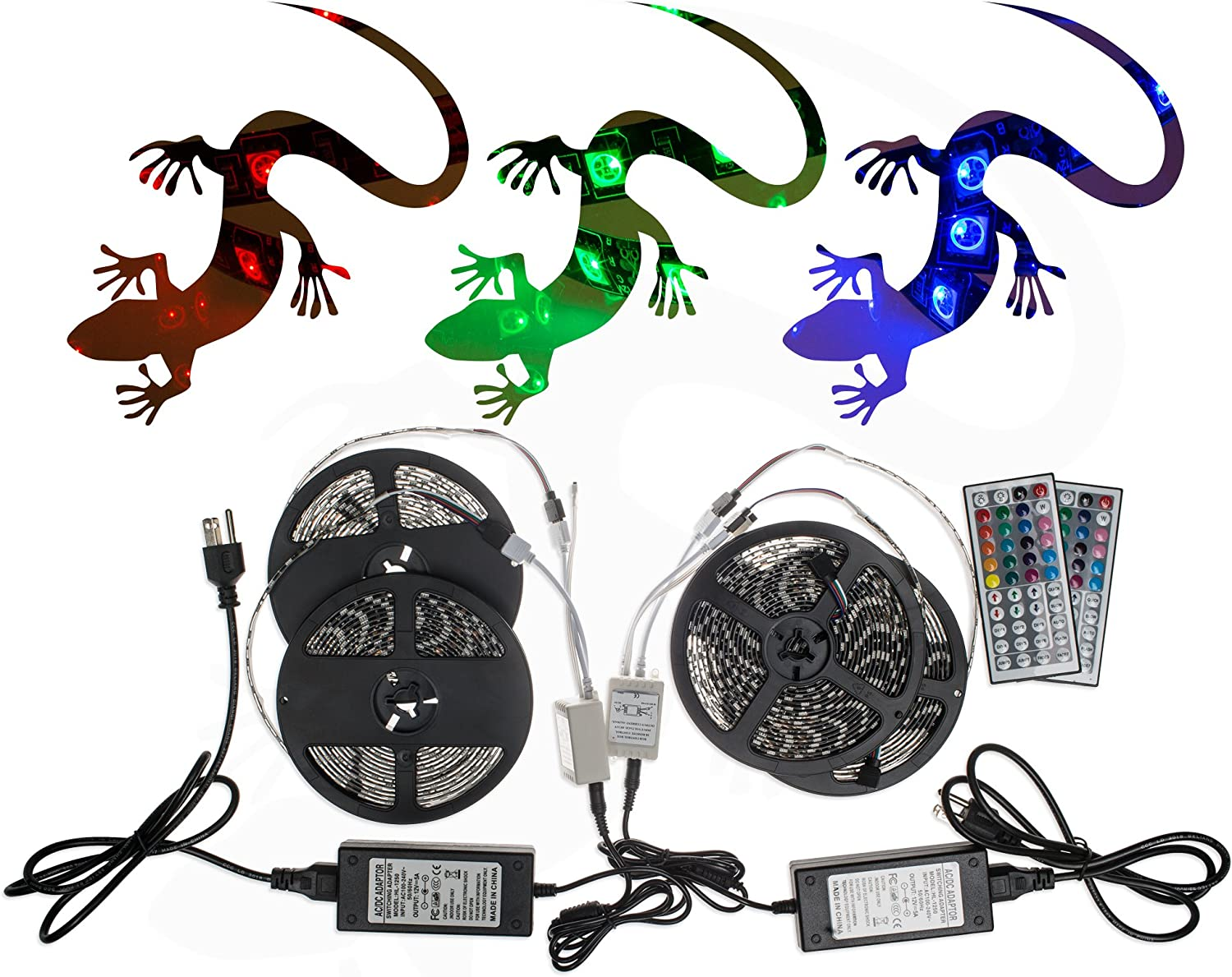 20M 5050SMD RGB Super beauty product restock quality Brand new top LED Strip Light Kit Key Outlet 2 Po Remote 44 5A