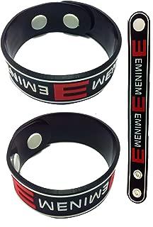 Eminem New! Rubber Bracelet Wristband Aa5 White