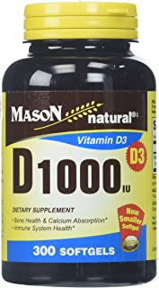 Mason Natural D 1000IU Softgels