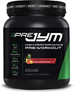 Pre Jym Pre Workout Powder - Bcaas, Creatine Hci, Citrulline Malate, Beta-Alanine, Betaine, & More | JYM Supplement Scienc...