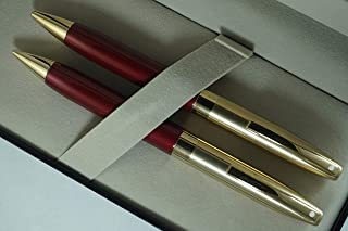 Cross Sheaffer Made in the USA Legacy Heritage Red and 22KT Gold pen and 0.5mm pencil set