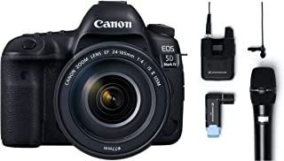 Canon EOS 5D Mark IV 30.4 MP Digital SLR Camera (Black) + EF 24-105mm is II USM Lens Kit + Sennheiser AVX-Combo SET-4-US Digital Wireless Microphone System
