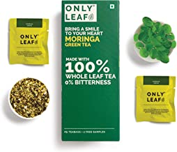 Onlyleaf Moringa Green , 27 Tea Bags (25 Tea Bags + 2 Free Exotic Samples )
