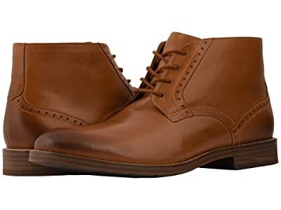 Nunn Bush Middleton Plain Toe Chukka (Cognac) Men