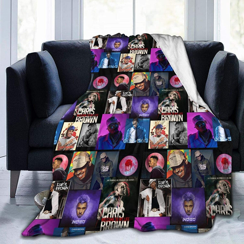 Knsoiv Financial sales sale Chris Brown Theme Winter Bed Soft Ultra Blanket At the price Li Fleece