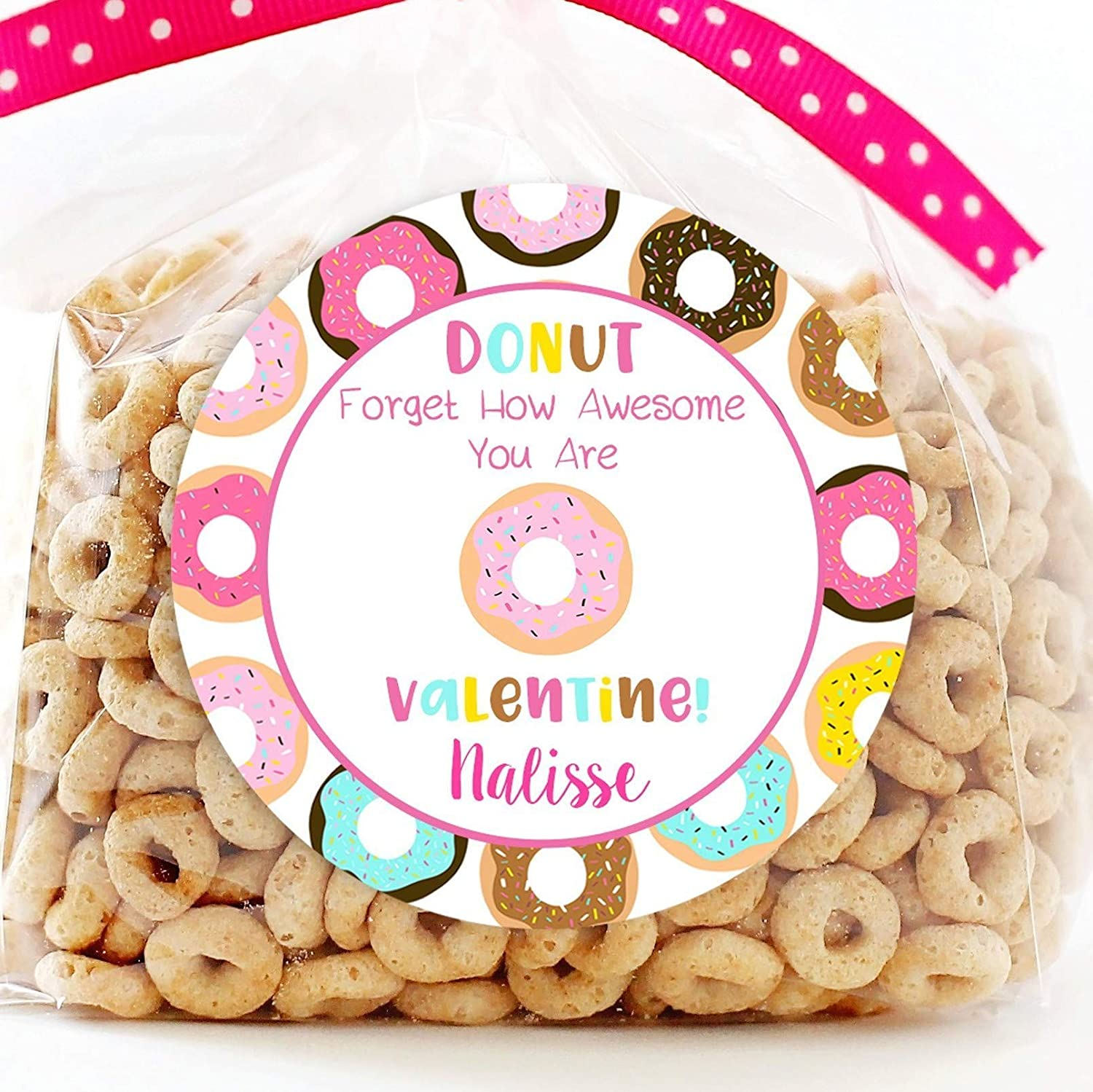 Donut Valentine's Day Special sale item Personalized Stickers St Favor Minneapolis Mall Valentine -