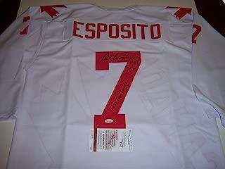 Autographed Phil Esposito Jersey - 1972 Team Canada hof 1984 717 Goals coa - JSA Certified - Autographed NHL Jerseys