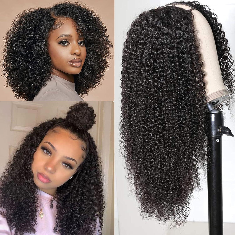 U Part Long-awaited Afro Kinky Wigs for 14 Virgin Women Ranking TOP3 Brazilian inch Black