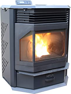 Cleveland Iron Works PSBF66W-CIW Pellet Stove, Black