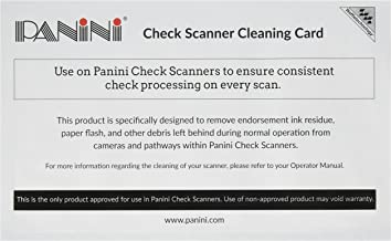 Panini Check Scanner Cleaning Cards featuring Waffletechnology (15 cards) photo