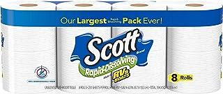 Scott Rapid-Dissolving Toilet Paper, 48 Double Rolls (6 Packs of 8) = 96 Regular Rolls, 231 Sheets Per Rolls, Made for RVs...