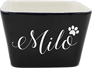 Custom Personalized Pet Bowl Gift - Engraved Dog and Cat Bowls - Monogrammed Ceramic Dish