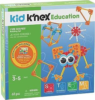 K'NEX بچه آموزش و پرورش من شکل می بینم! مجموعه های اسباب بازی ساخت اسباب بازی های یادگیری دوران پیش دبستانی (61 قطعه) (آمازون اختصاصی)