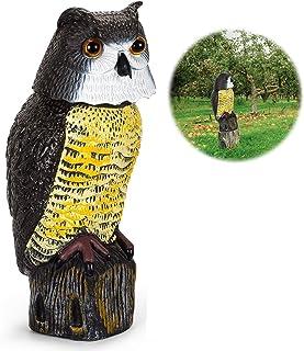 تمثال هوفن بومة وهمية مع رأس دوارة، تمثال البومة الفزاعة الطيور بعيدا عن الفناء حديقة الديكور الخارجي