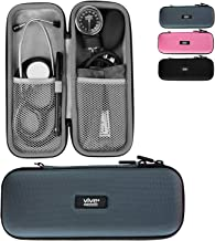 Vive Precision Stethoscope Hard Case - Protective Carry Cover with Handle - Travel Holder for Sphygmomanometer - Fits Vive Precision and Other Cardiology Brands - Doctor and Nurse Accessories (Gray)