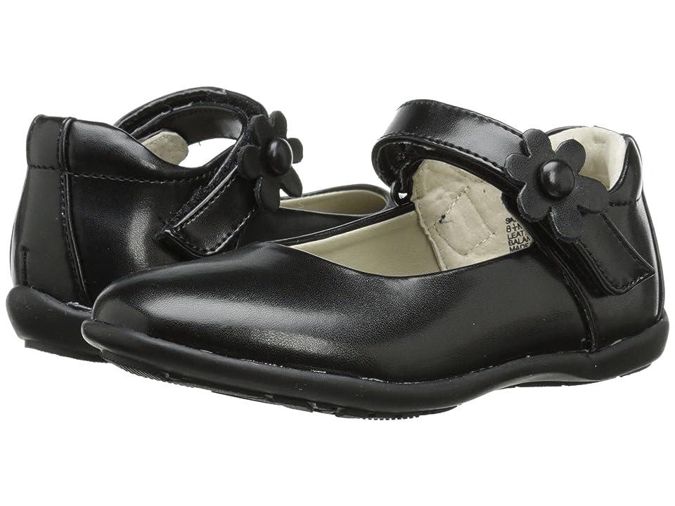 Jumping Jacks Kids Sally Balleto (Toddler/Little Kid/Big Kid) (Black Smooth Leather) Girls Shoes