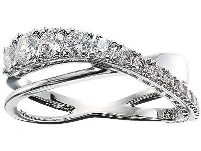 Swarovski Twist Rows Ring (Silver) Ring