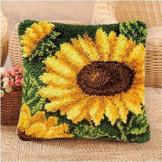 Kits De Crochet De Bricolage Bricolage Jetez De La Taie d'oreiller, des Kits Crochet pour Adultes avec Fil, Taies De Brode...