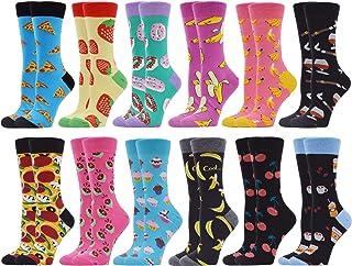 WeciBor, Calcetines para mujer de algodón, calcetines de fantasía, calcetines estampados para niñas, regalo