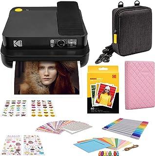 "KODAK Smile Classic Cámara Instantánea Digital c/Bluetooth + Papel de impresión fotográfica Zink 35""x425"" (40 Hojas) + Set Regalo"