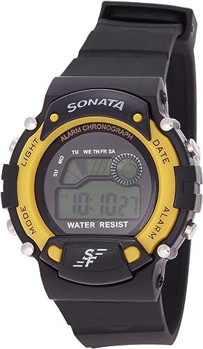 Sonata Superfibre Digital Grey Dial Men's Watch NM7982PP01 / NL7982PP01