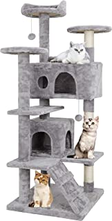 Nova Microdermabrasion Pet Republic 53 Inches Multi-Level Cat Tree Stand House Furniture Kittens Activity Tower with Scrat...