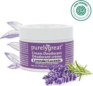 Women's All Natural Deodorant   Aluminum Free Deodorizer   Long Lasting Deodorant Cream   EWG Verified, Vegan, Cruelty-Free, No Aluminum, No Parabens, BPA Free   Essential Oils   Lavender Scent