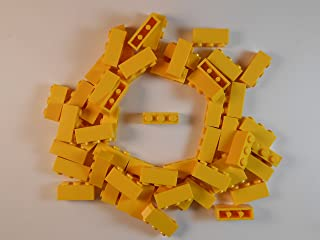 LEGO 1X3 BRICKS LOT OF 50. YELLOW BRICKS. BRAND NEW!