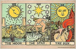 The Moon, Star, and Sun Tarot Cards Poster - [11'' x 17'']