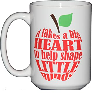 15oz It Takes a Big Heart to Shape Little Minds - Teacher Appreciation Gift Coffee Mug